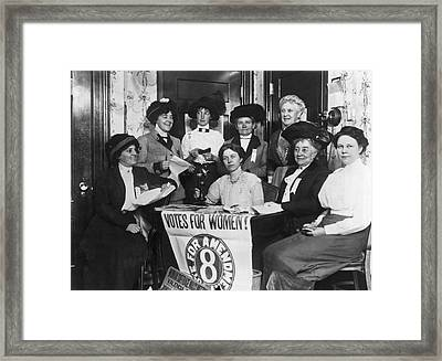 Sf Women's Suffrage Effort Framed Print by Underwood Archives