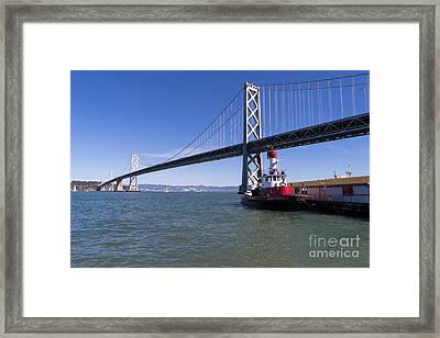 Sffd Guardian Fireboat Number 2 At The Bay Bridge On The Embarcadero Dsc01839 Framed Print