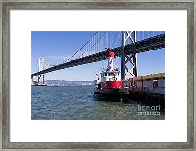 Sffd Guardian Fireboat Number 2 At The Bay Bridge On The Embarcadero Dsc01841 Framed Print