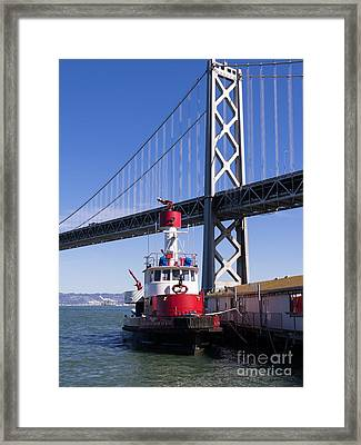 Sffd Guardian Fireboat Number 2 At The Bay Bridge On The Embarcadero Dsc01842 Framed Print