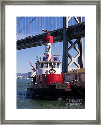 Sffd Guardian Fireboat Number 2 At The Bay Bridge On The Embarcadero Dsc01843 Framed Print