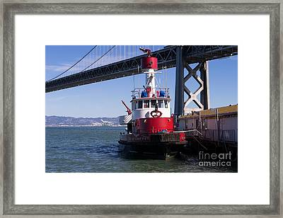 Sffd Guardian Fireboat Number 2 At The Bay Bridge On The Embarcadero Dsc01844 Framed Print