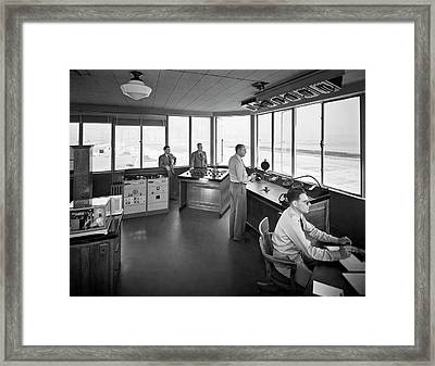 Sfo Control Tower Framed Print by Underwood Archives