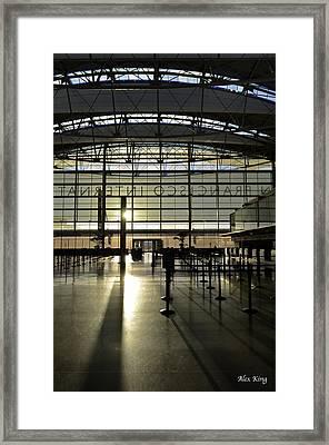 Sfo International Terminal From The Inside Framed Print by Alex King