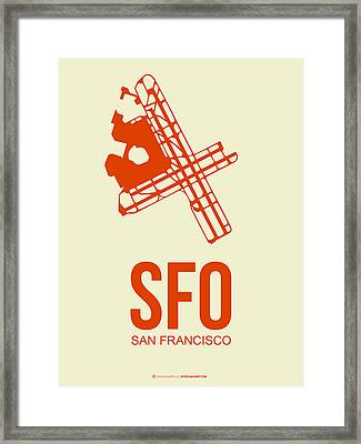 Sfo San Francisco Airport Poster 1 Framed Print by Naxart Studio