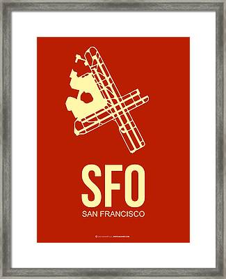 Sfo San Francisco Airport Poster 2 Framed Print by Naxart Studio