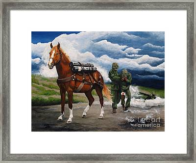 Sgt. Reckless Framed Print by Pat DeLong