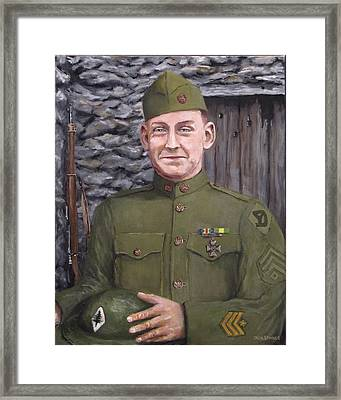 Sgt Sam Avery Framed Print by Jack Skinner
