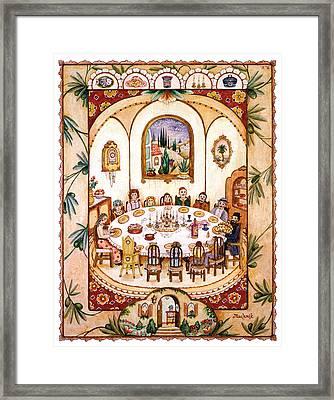 Shabbat Table Framed Print