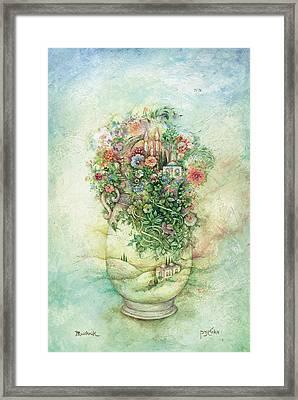 Shabbat Vase Framed Print by Michoel Muchnik