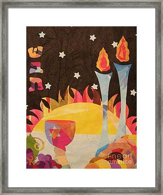 Framed Print featuring the mixed media Shabbot by Diane Miller