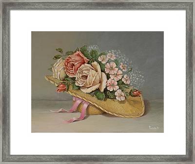 Shabby Chic Roses Framed Print