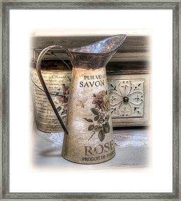 Shabby Chic Vase Framed Print