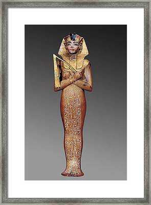 Shabti Figure Of The King. 1370 -1352 Framed Print by Everett