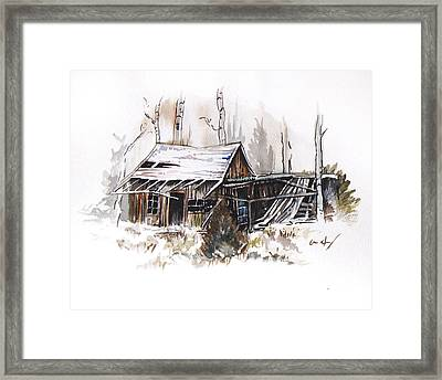 Shack Framed Print by Aaron Spong