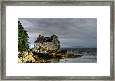 Shack By The Sea Framed Print