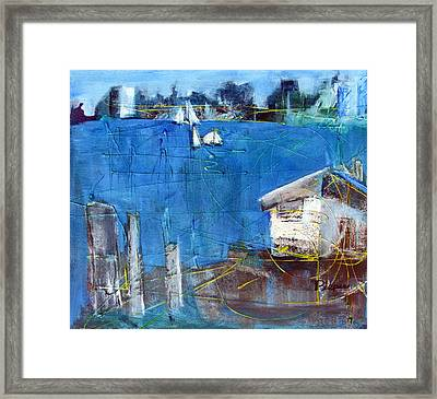 Shack On The Bay Framed Print