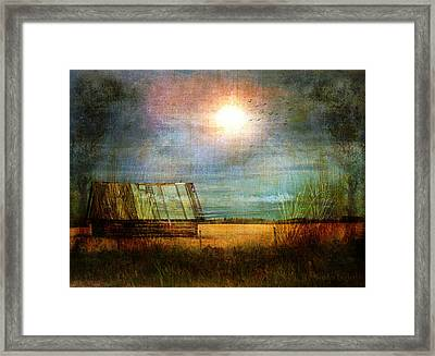 Framed Print featuring the photograph Shack On The Prairie Corner  by Sandra Foster