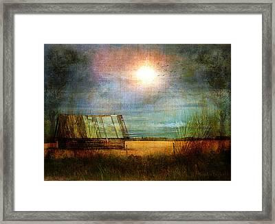 Shack On The Prairie Corner  Framed Print by Sandra Foster