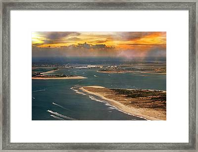 Shackleford Banks Fort Macon North Carolina Framed Print