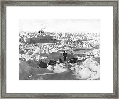Shackleton's Antarctic Venture Framed Print by Underwood Archives