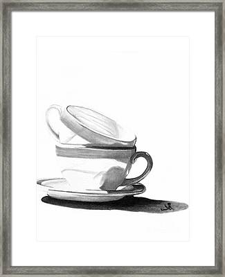 Framed Print featuring the drawing Shade by Denise Deiloh