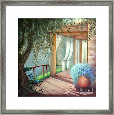 Shade Of The Olive Tree Framed Print