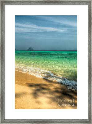Shaded Beach Framed Print by Adrian Evans