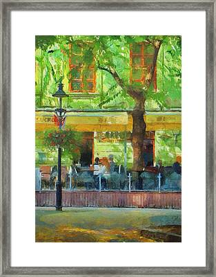 Shaded Cafe Framed Print by Jeff Kolker