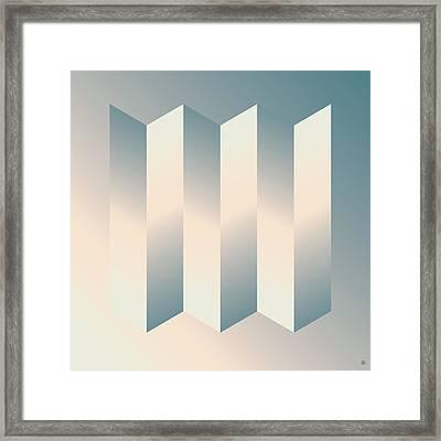 Shaded Columns Framed Print by Gary Grayson