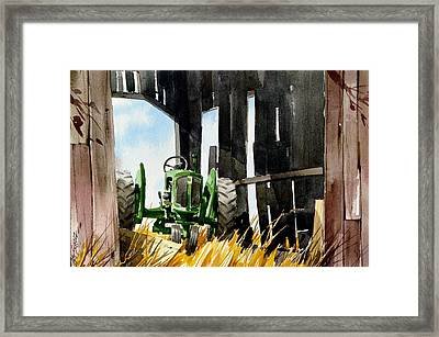 Shaded Shed Framed Print by Art Scholz