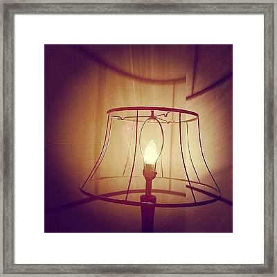 Shadeless Lamp  Framed Print