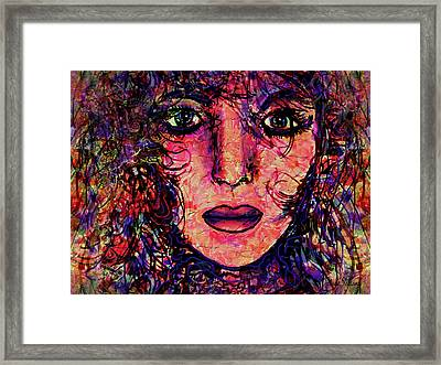 Shades Of A Woman Framed Print by Natalie Holland