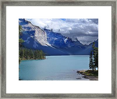 Shades Of Blue And Turquoise Framed Print by Janet Ashworth