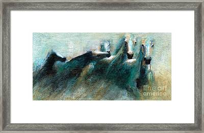 Shades Of Blue Framed Print by Frances Marino