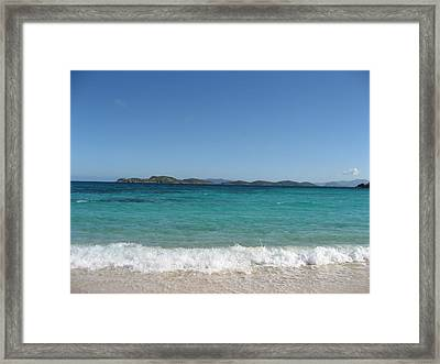 Shades Of Blue Framed Print by Jean Marie Maggi
