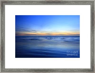 Rocks In Surf Carlsbad Framed Print