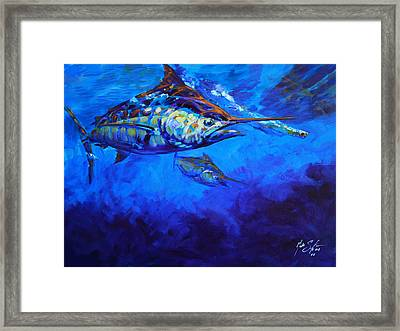 Shades Of Blue Framed Print by Savlen Art
