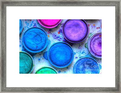 Shades Of Blue Watercolor Framed Print by Heidi Smith