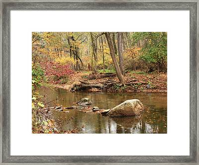 Shades Of Fall In Ridley Park Framed Print by Patrice Zinck