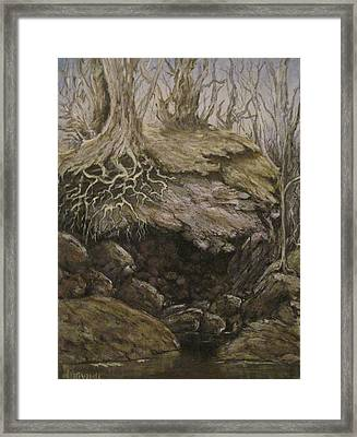 Framed Print featuring the painting Shades Of Froud by Megan Walsh