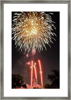 Shades Of Gold Explode Framed Print