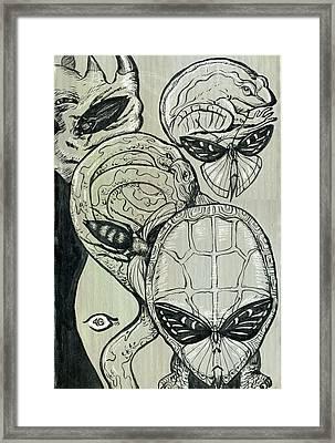 Shades Of Grays Three Framed Print