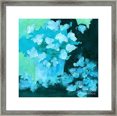 Shades Of Green And Light Framed Print by Kathy Braud