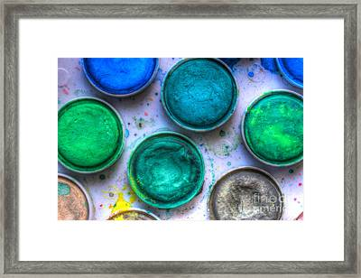 Shades Of Green Watercolor Framed Print