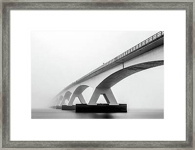 Shades Of Grey Framed Print by Sus Bogaerts