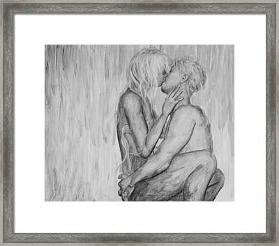 Shades Of Grey - Wet Romance Framed Print by Nik Helbig