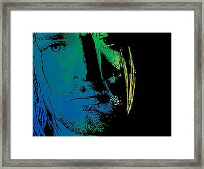 Shades Of Kurt Cobain Framed Print