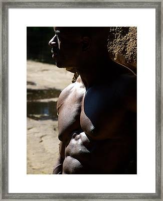 Shades Of Muscle Framed Print