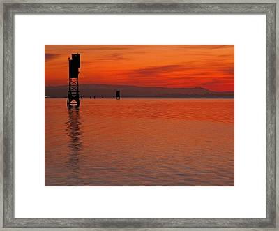 Framed Print featuring the photograph Shades Of Orange by Suzy Piatt